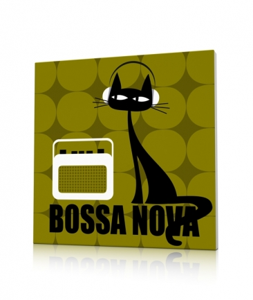 Tableau chat moderne Bossa Nova Cat