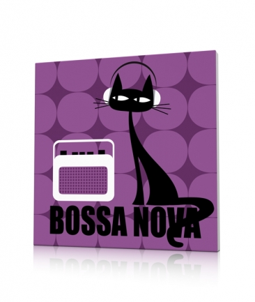Tableau contemporain chat Bossa Nova Cat