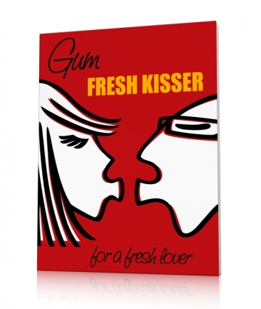 Kitchen art prints red Kisser