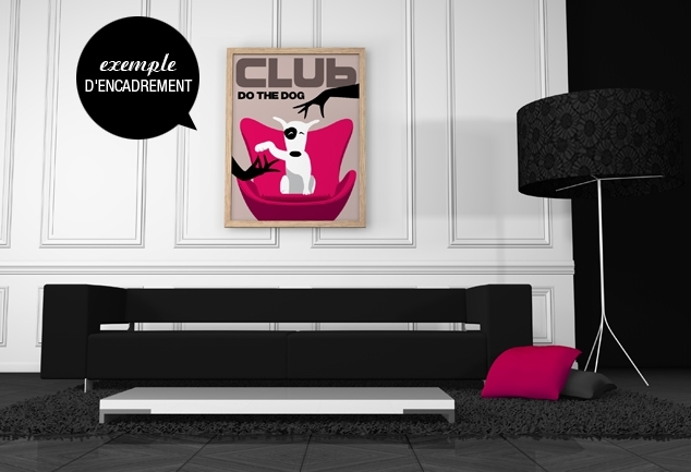 Affiche murale chien rose Do The Dog