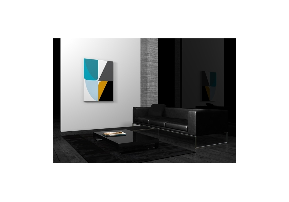 Tableau design abstrait triangles living waters qorashai for Tableau scandinave