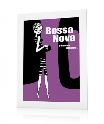 Girly posters mauve Bossa