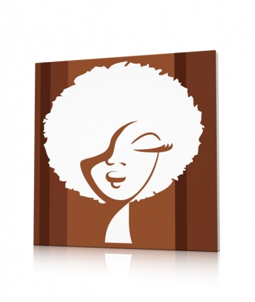 Tableau pop art design marron Woman