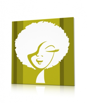 Tableau pop art design vert Woman