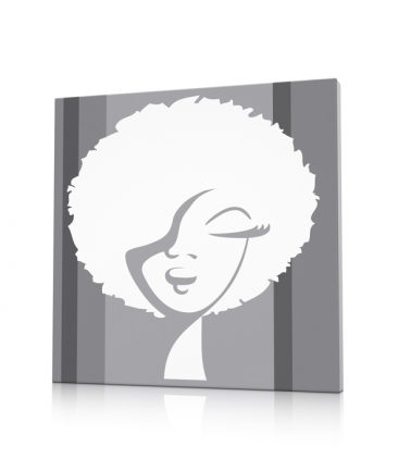 Tableau pop art design gris Woman