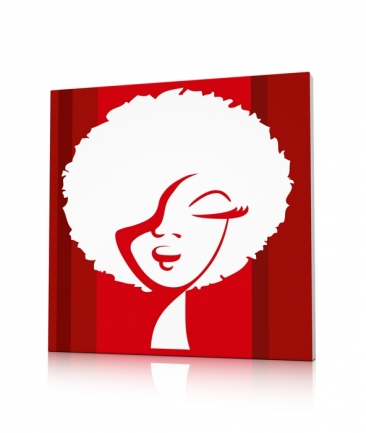 Tableau pop art rouge World Woman