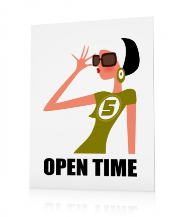 Fashion poster Open Time