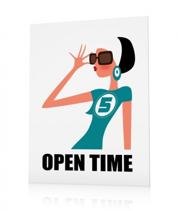 Fashion poster blue Open Time