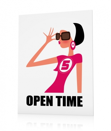 Teen poster pink Open Time