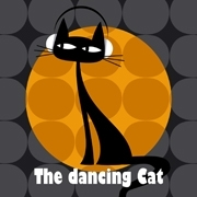 Tableau chat moderne The Dancing Cat