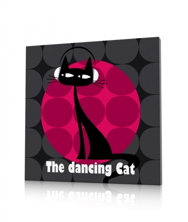 Tableau chat  rose The Dancing Cat