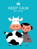 Cow art Keep Calm