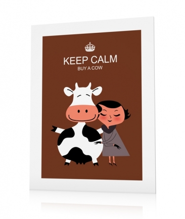 Cow posters brown Keep Calm