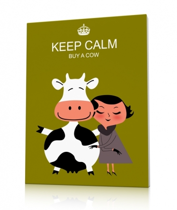 Tableau vache moderne Keep Calm