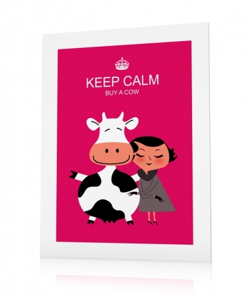 Girl poster pink Keep Calm