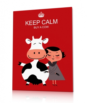 Tableau design rouge Buy a Cow