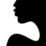 Woman profile art Feminitie Black