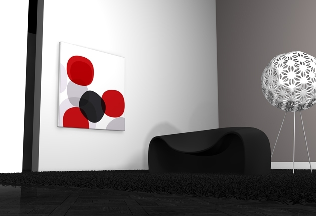 Tableau design chambre rouge Marshmallows