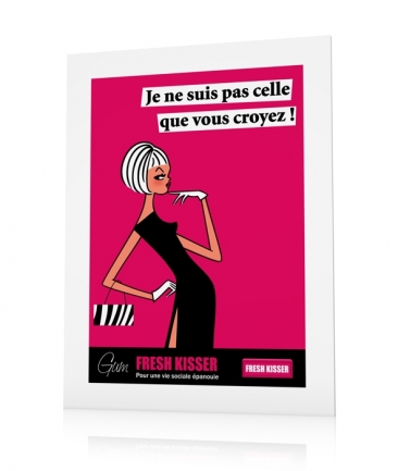 Girly poster Pink Je ne suis pas