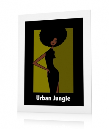 Poster afro girl Urban Jungle