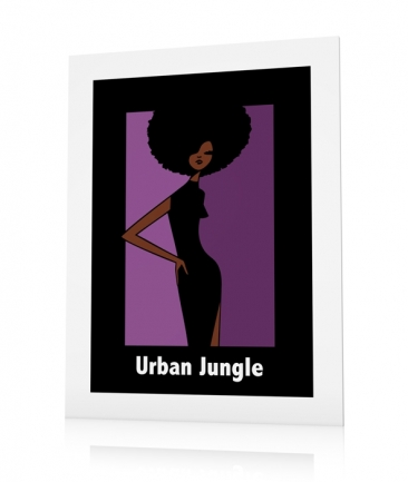 Poster style afro Urban Jungle