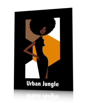 Poster afro ocre girl jungle