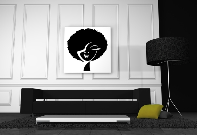 Tableau afro World Woman