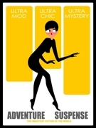 Art deco poster vintage Mystery
