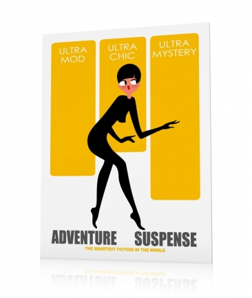 Poster silhouette femme Ultra Mystery