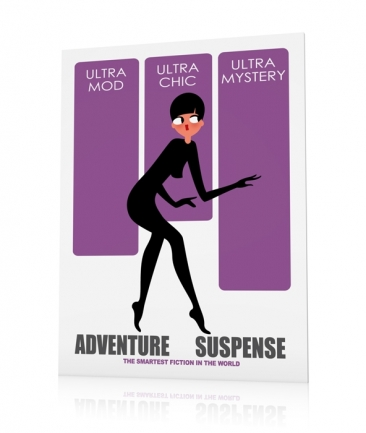 Woman poster mauve Mystery