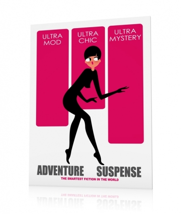Girly art poster pink Mystery