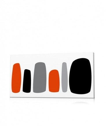 Tableau moderne galets orange Maoz