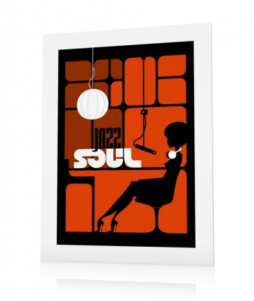 Poster musique jazz orange Studio One