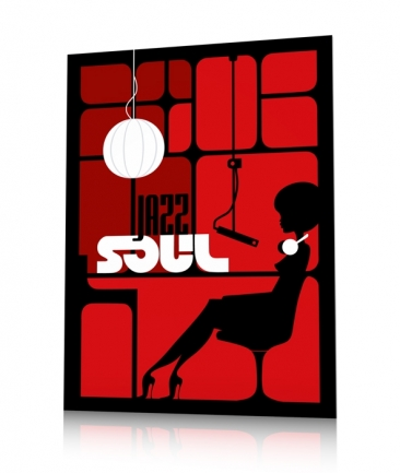 Jazz woman poster red Studio One