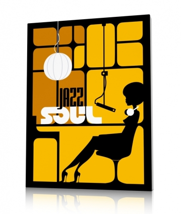 Tableau vintage jaune jazz Studio One