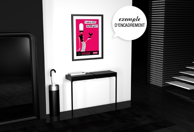 Poster déco chien Very Stylish