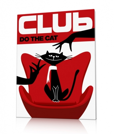 Tableau chat rouge design Do The Cat