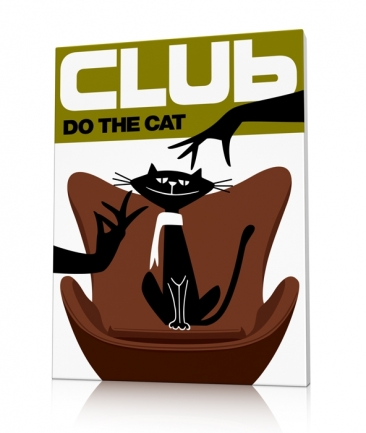 Tableau moderne chat Do The Cat