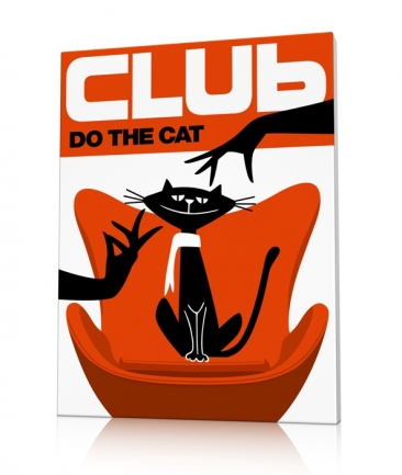 Tableau vintage chat Do The Cat
