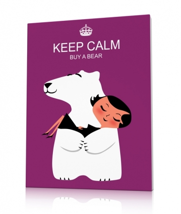 Toile design violet ours Buy a Bear