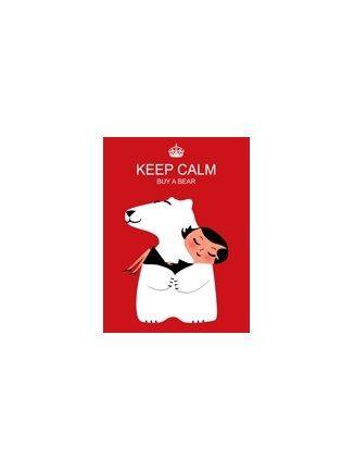 Tableau ours rouge keep calm