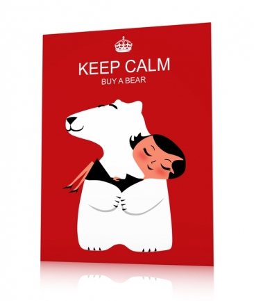 Affiche vintage rouge Keep Calm