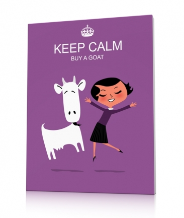 Tableau design mauve Keep calm