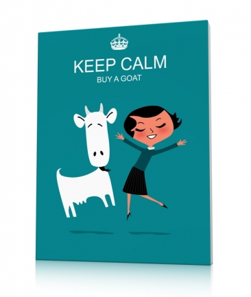 Tableau design bleu Keep calm