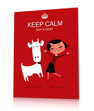 Tableau design rouge Keep calm