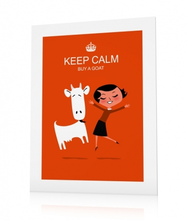 Poster enfant orange keep Calm