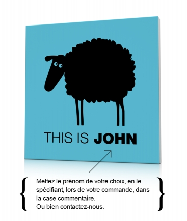 Tableau de mouton bleu This is John
