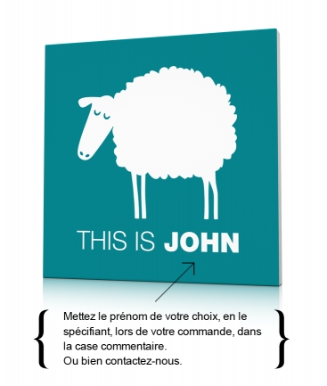 Tableau de déco mouton This is John