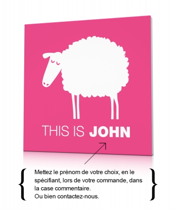 Toile design mouton rose This is John