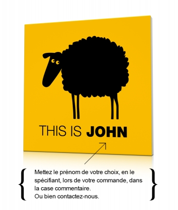 Tableau design mouton jaune This is John